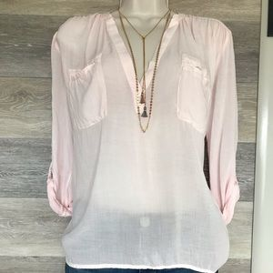 YFB rayon pink blouse